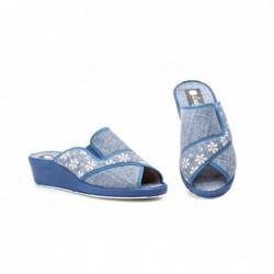 Zapatillas Mujer Azul Cuña...