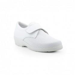 Zapato Mujer Piel Perforada...