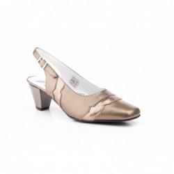 Zapatos Mujer Piel Cobre