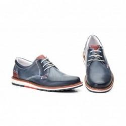 Zapatos Hombre Piel Picado...