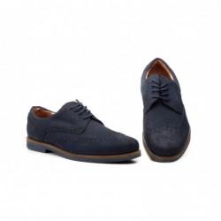 Zapatos Hombre Piel Marino...