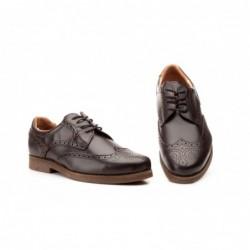 Zapatos Hombre Piel Marrón...
