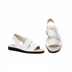 Sandalias Mujer Piel Blanco...